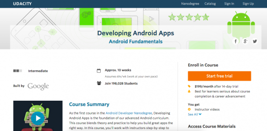 Udacity Android app learning